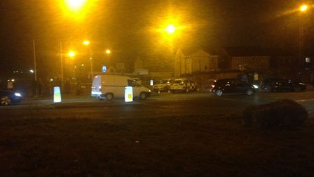 Police have cordoned off Worle Railway Station.