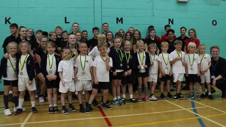 Pupils from Wrington Primary School took part in a competition.Picture: Wrington Primary School