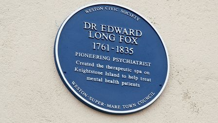 Unveiling of new blue plaque in honour of Dr Edward Long Fox. Picture: MARK ATHERTON