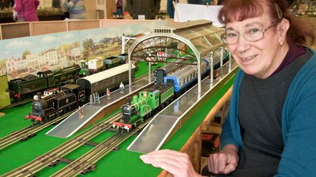 Vintage Hornby Train Show, Rebecca Strong with her 'O' gauge electric layout. Picture: MARK ATHER
