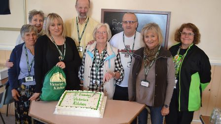 The team at Victoria's Kitchen mark it's first birthday. Picture: Eleanor Young
