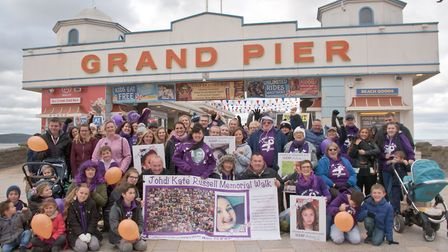 The first SUDEP Action awareness walk, starting from the Grand Pier doing a one mile walk to Knights