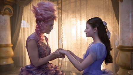 Keira Knightley is the Sugar Plum Fairy and Mackenzie Foy is Clara in THE NUTCRACKER AND THE FOUR RE