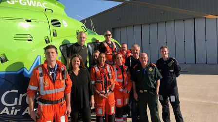 The GWAAC crew. Picture: Great Western Air Ambulance Charity