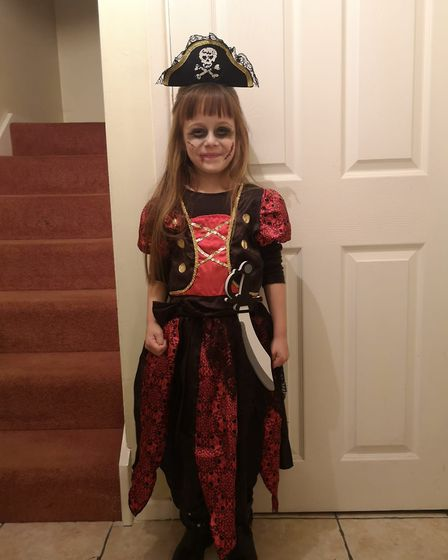 Five-year-old spooky pirate Niamh Conway.