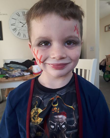 Zombie pirate Maximus Henley, aged four.