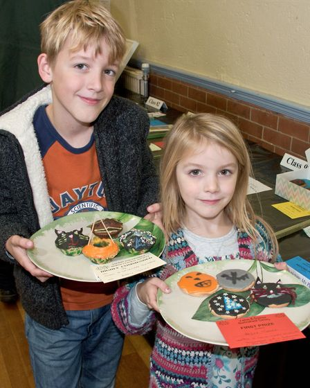 Bobby and Hazel Turner with their prize winning exhibits at Yatton Autumn Show. Picture: MARK ATH