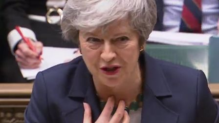 Prime Minister Theresa May speaking in the House of Commons. Photograph: House of Commons/PA Wire