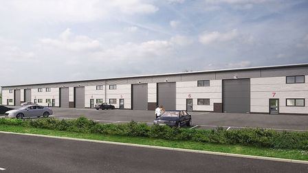 A CGI impression of what the warehouses would look like. Picture: Uphold Ltd.