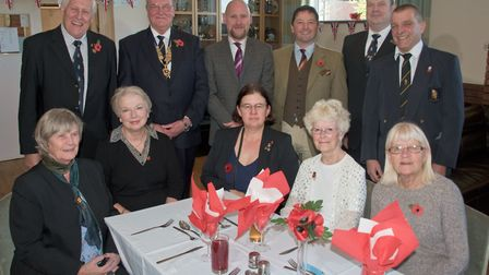 Royal British Legion representitives from County and the newly reformed Yatton Branch. Picture: M