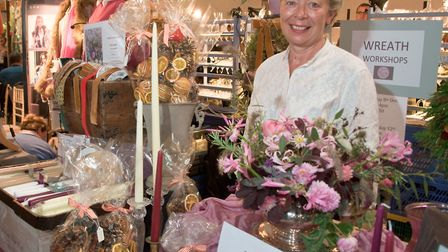 Mendip Christmas Fair at Aldwick Court, Toria Britten - Flowers from the Plot. Picture: MARK ATHE