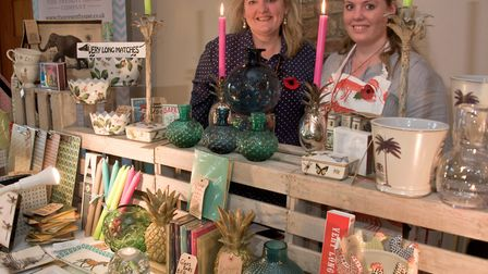 Mendip Christmas Fair at Aldwick Court, Present House Company - Sophie and Evie Kirk. Picture: MA