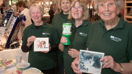 Mendip Christmas Fair at Aldwick Court, friends of CHSW Lois Brenchley, Lyn Hall, Penny Baker and Ja
