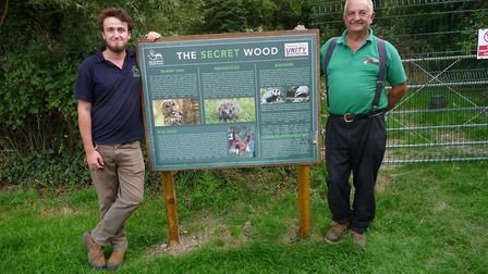 Jamie Kingscott of Secret World and Mick Rayner from Holiday Resort Unity in Secret Wood. Picture: S