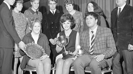 Weston-super-Mare Technical College Annual Prizegiving at the Royal Hotel. Pictured with other prize