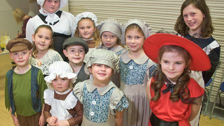 All Stars Dance School singing carols at Moor Hens WI Christmas Fair. Picture: MARK ATHERTON