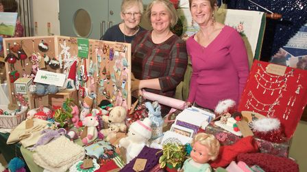 Members of Worle WI at Moor Hens WI Christmas Fair. Picture: MARK ATHERTON