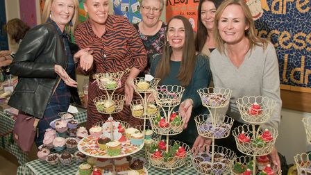 Members of Moor Hens WI at their Christmas Fair cake stall. Picture: MARK ATHERTON