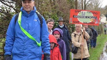 Campaigners want to see a footpath erected to connect Cross and Axbridge.Picture: Cross to Axbridge