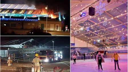 Icescape reopens today, just two days after a fire tore through the temporary structure. Pictures: M
