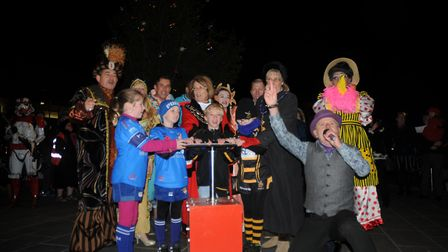 The moment the Christmas lights were switched on last year. Picture: Sam Frost
