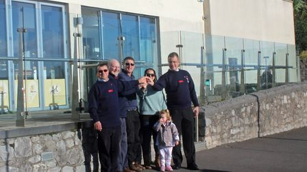 The RNLI received the keys to The Cove Restaurant to turn it into its new base. Picture: Weston RNLI