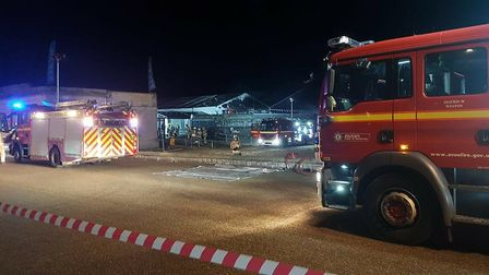 Six fire engines were called to the scene.