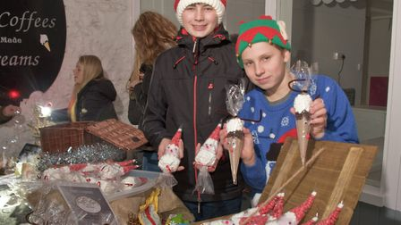 Kings of Wessex students with their 'Big Pitch' ideas at Cheddar Festive Night. Picture: MARK AT