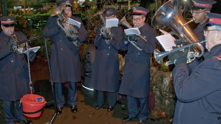 The Salvation Army Band at Cheddar Festive Night. Picture: MARK ATHERTON