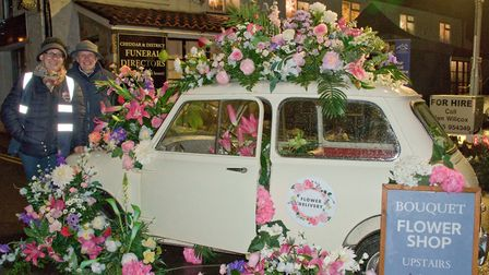 The Bouquet Flower Shop display at Cheddar Festive Night. Picture: MARK ATHERTON