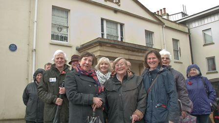 Dr Edward Long Fox was the most recent plaque to be unveiled at the spa building on Knightstone Isla