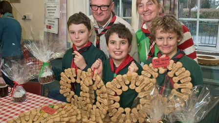 Winscombe Scouts Group Christmas Fair. Picture: MARK ATHERTON