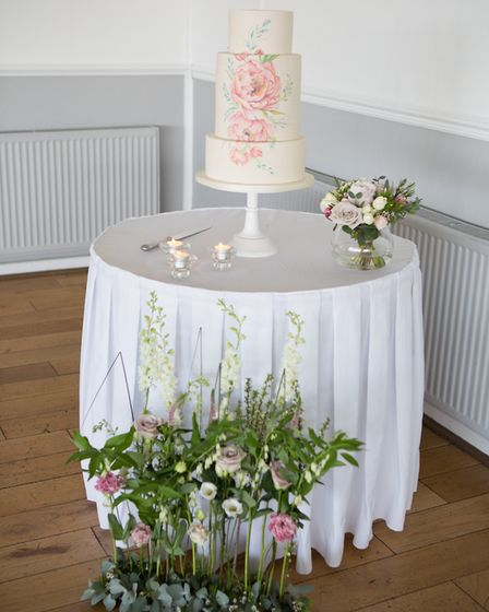 A wedding cake at a reception at The Royal Hotel in Weston-super-Mare. Picture: Daniel Standerwick P