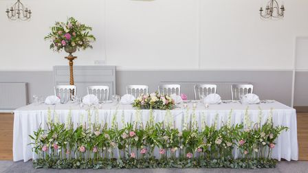 A top table at a wedding held at The Royal Hotel in Weston-super-Mare. Picture: Daniel Standerwick P