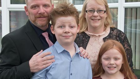 Aiden Hunt has been nominated for a Child of Courage Award at the 2018 Somerset Awards, pictured dad