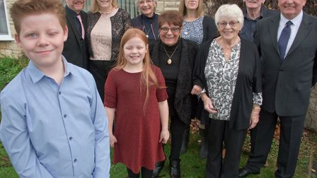 Aiden Hunt has been nominated for a Child of Courage Award at the 2018 Somerset Awards, pictured wit