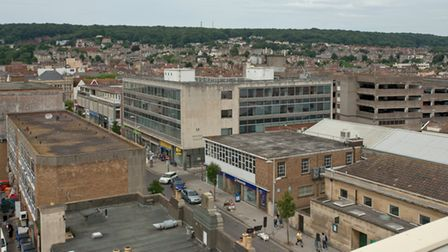 Weston High Street seen from the roof of the new Dolphin Square development.