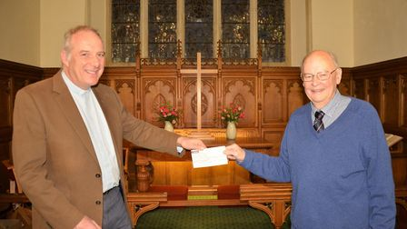 The cheque was presented to the Poppy Appeal.