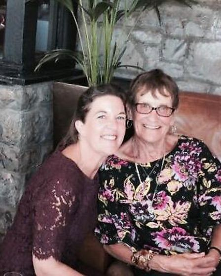 Anne Riney with daughter-in-law Lesley Riney.