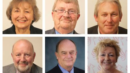 North Somerset Parking review commitee - (from top left) Conservative Cllrs Jan Barber, Peter Crew,