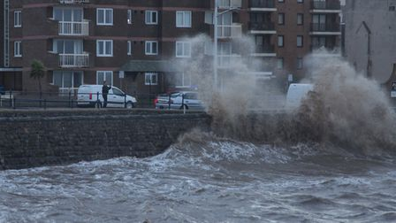 High winds are expected in Weston today. Picture: Simon Williams
