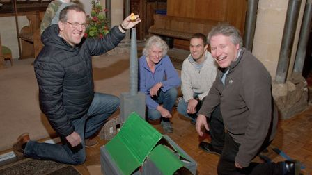 To celebrate St Congar's Day at Congresbury, people are building a model of their village and it's l