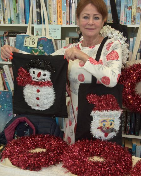 Lolo Dee-Shapland with festive shoping bags raising money for Cardiac Risk in the Young. Picture: