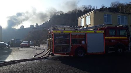A blaze is being tackled in Weston-super-Mare.Picture: Ben Egryn Nicholas
