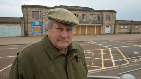 Derek Mead outside the Tropicana which he wanted to turn back into a swimming pool complex.