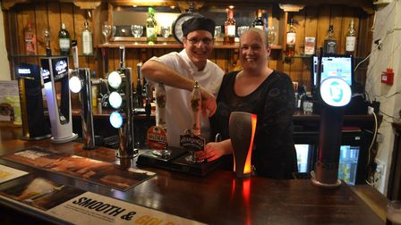 Becky and John have taken over The Gardeners Arms in Chedder. Picture: Eleanor Young