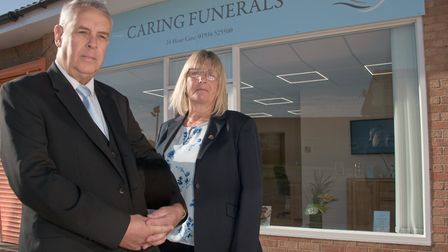 Sonia and Tony at AJ Lock Caring Funerals, a new funeral company opened in Mead Vale. Picture: