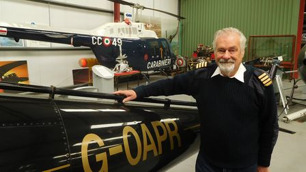 Elfan Ap Rees at the Helicopter Museum. Picture: Sub
