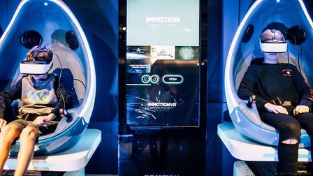 The Grand Pier will unveil its virtual reality pods on Saturday. Picture: Grand Pier