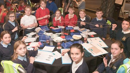 North Somerset schools holding a STEM Science Summit at Cadbury House. Picture: MARK ATHERTON